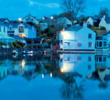 The Lights Come On In Mylor Bridge Sticker