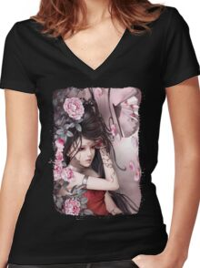 Beautiful Lady Women's Fitted V-Neck T-Shirt