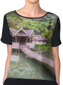 Pagoda reflecting Chiffon Top