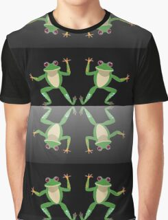 HAPPY DANCE BY FINGERS & TOES FROGS Graphic T-Shirt