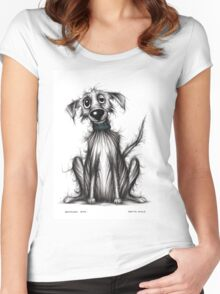 Homeless dog Women's Fitted Scoop T-Shirt