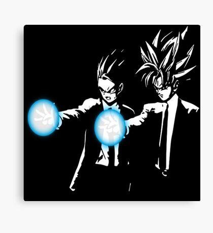 Gohan and goku action Canvas Print