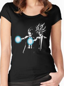 Gohan and goku action Women's Fitted Scoop T-Shirt