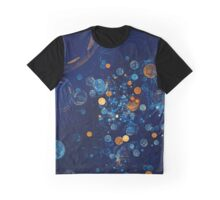 Fractal Soapbubbles - Abstract In Blue And Orange Graphic T-Shirt