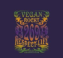 VEGAN ROCKT - veggie, vegetarian, meatless, life by fuxart