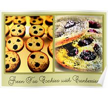 Green Tea Cookies with Cranberries Poster