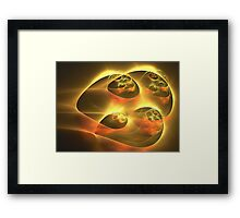 Gold Sky Ships Framed Print