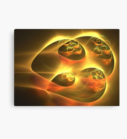 Gold Sky Ships Canvas Print