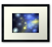 Blue Galaxies Framed Print