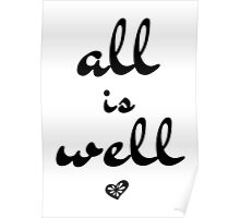 All is Well, Wall Art, Typography Poster