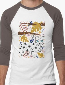 Snow Leopard Cub Men's Baseball ¾ T-Shirt