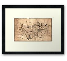 Map of the parish of Sheffield, 1795 Framed Print