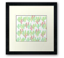 Coloured Cactus Framed Print