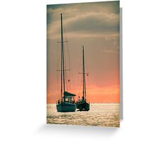 Sunset Yachts Greeting Card