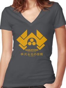 NAKATOMI PLAZA - DIE HARD BRUCE WILLIS (YELLOW) Women's Fitted V-Neck T-Shirt