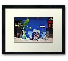Blue Mansion, Penang Framed Print