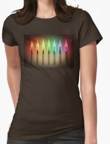 rainbow matches Womens Fitted T-Shirt