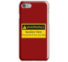 Weapons of a nerd - provoke me at your own risk - i have spoilers  iPhone Case/Skin
