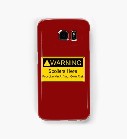 Weapons of a nerd - provoke me at your own risk - i have spoilers  Samsung Galaxy Case/Skin