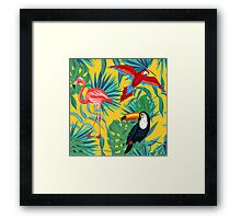 yellow tropical  Framed Print