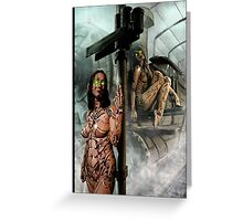 Steampunk Painting 009 Greeting Card