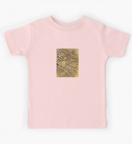 Baby Handprints in Gold and Black Kids Tee