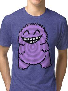 Purple Fuzz Monster Tri-blend T-Shirt