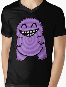 Purple Fuzz Monster Mens V-Neck T-Shirt