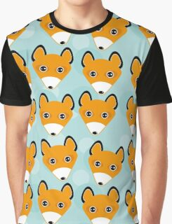 Cute fox face pattern Graphic T-Shirt