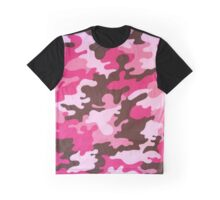 Pink Camo Graphic T-Shirt