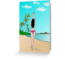 Tropical girl Greeting Card