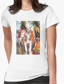 Ghost of a Robot Womens Fitted T-Shirt