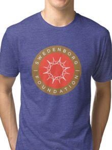 """Swedenborg Foundation """"Crest"""" Logo Tri-blend T-Shirt"""