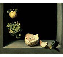 Juan Sánchez Cotán,  - Quince, Cabbage, Melon, and Cucumber,  Photographic Print