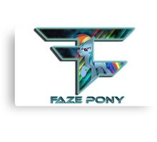 FaZe - pony Canvas Print