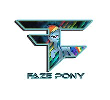 FaZe - pony Photographic Print
