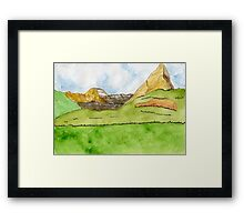 Near and Far // Landscape – Daily Painting #833 Framed Print