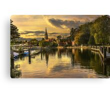 The Thames At Marlow In Late Afternoon Canvas Print