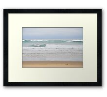Aqua Waves Framed Print