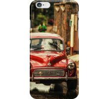 Red RetroMobile. Morris Minor iPhone Case/Skin