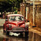 Red RetroMobile. Morris Minor by JennyRainbow