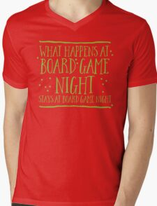 What happens at board game night stays at board game night Mens V-Neck T-Shirt
