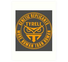 TYRELL CORPORATION - BLADE RUNNER (YELLOW) Art Print