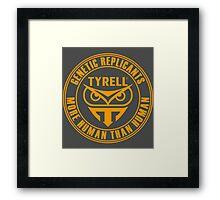 TYRELL CORPORATION - BLADE RUNNER (YELLOW) Framed Print