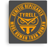 TYRELL CORPORATION - BLADE RUNNER (YELLOW) Canvas Print