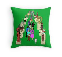 Tintin Museum Throw Pillow