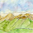 Mountains // Landscape – Daily painting #830 by Simon Rudd