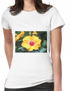 Hibiscus Beauty Womens Fitted T-Shirt