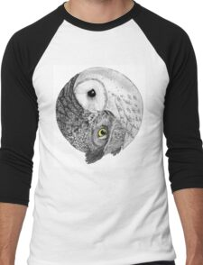 Owl Yin Yang Men's Baseball ¾ T-Shirt