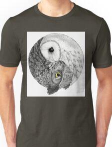 Owl Yin Yang Unisex T-Shirt